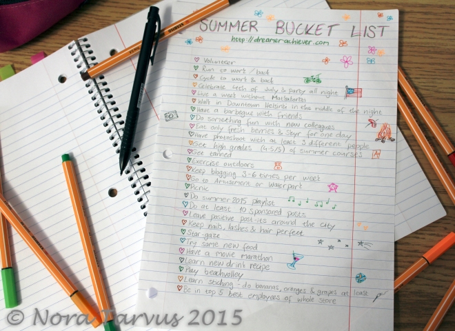 SummerBucketListb2015DreamerAchiever
