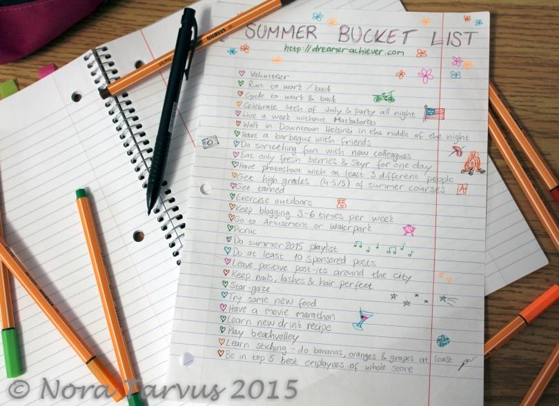 SummerBucketListb2015DreamerAchiever