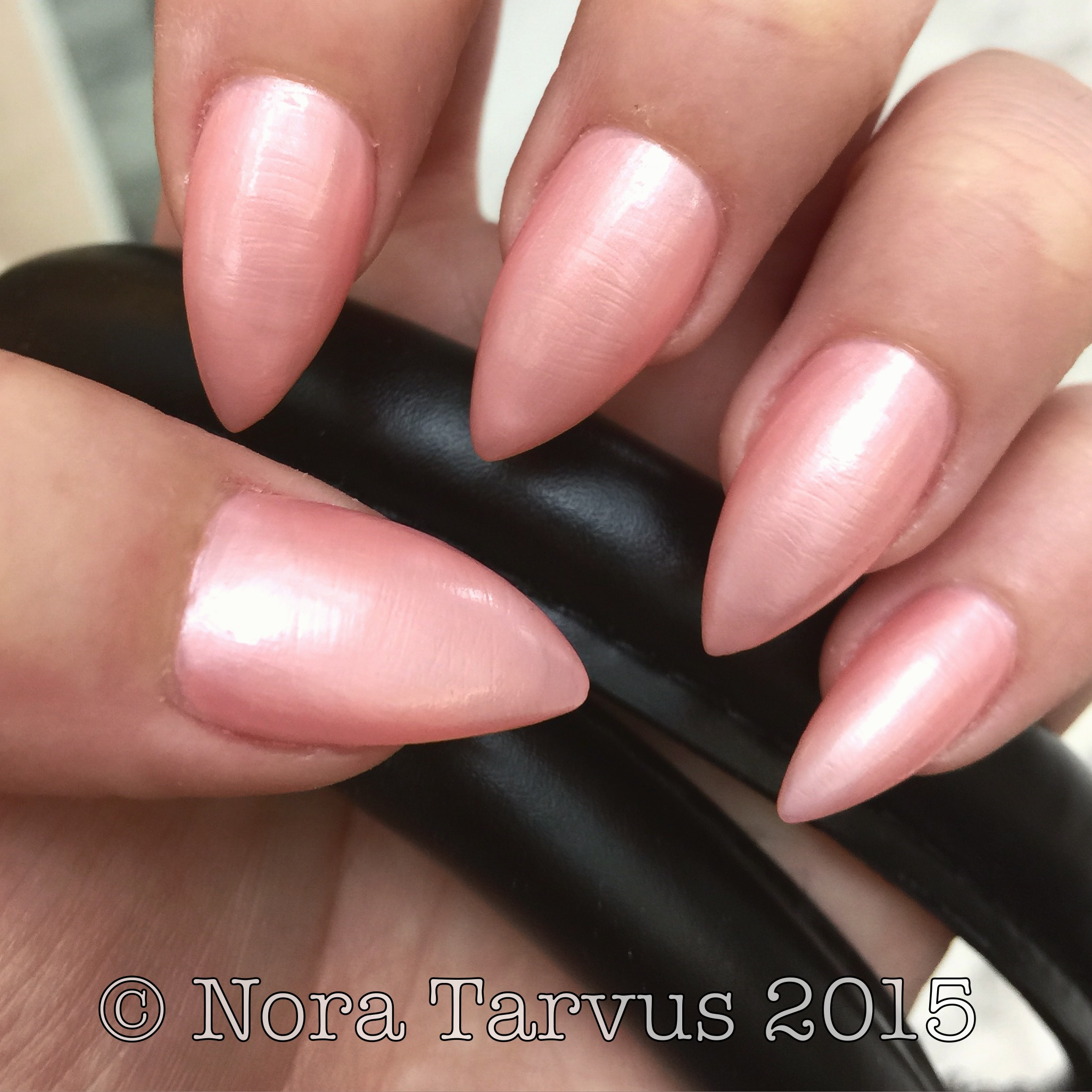July Nails - Pink, Sharp & Long - Dreamer Achiever