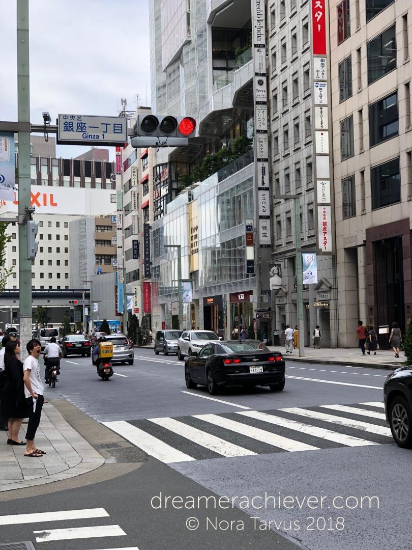 Ginza Area Tokyo Japan