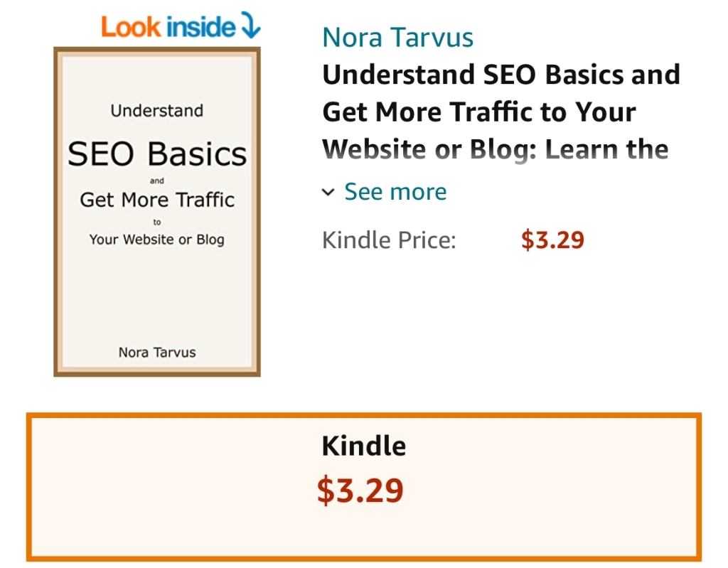 Understand the SEO Basics and Get More Traffic to Your Website or Blog by Nora Tarvus ebook discount