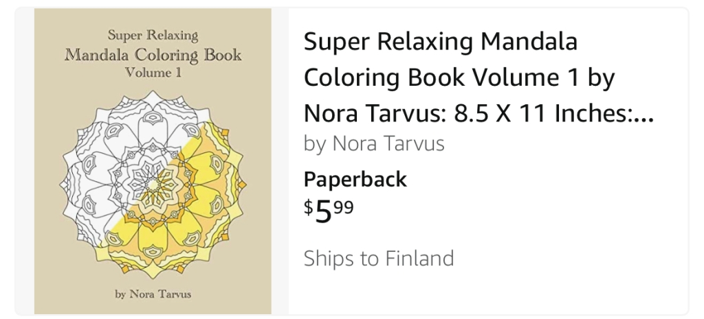 Super Relaxing Mandala Coloring Book Volume 1 by Nora Tarvus lovely coloring book as a gift or for yourself
